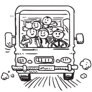 Der Schulweg mit dem Schulbus